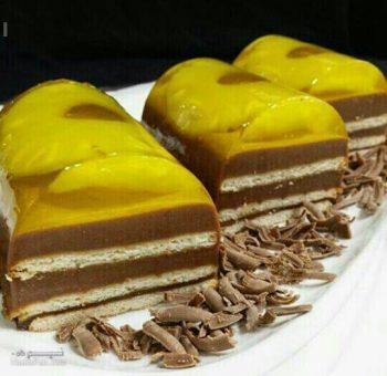 طرز تهیه دسر آناناس شکلاتی خوشمزه + فیلم آمزشی
