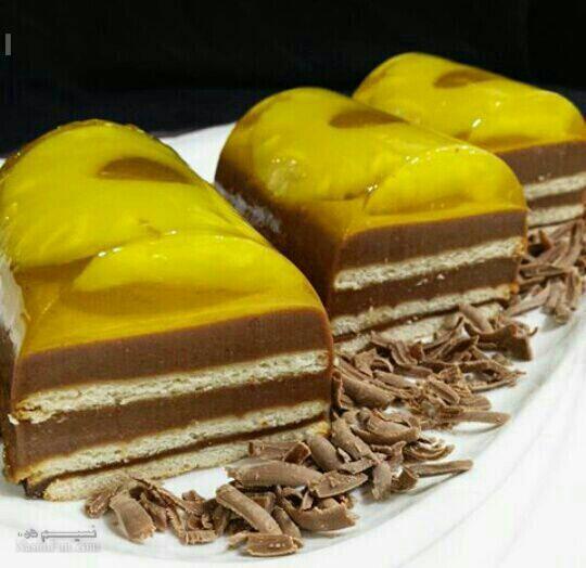 طرز تهیه دسر آناناس شکلاتی خوشمزه + فیلم آموزشی