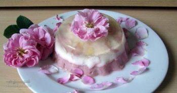 طرز تهیه ژله شربت گل محمدی خوش عطر