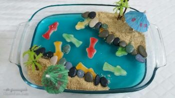 طرز تهیه ژله دریاچه ماهی