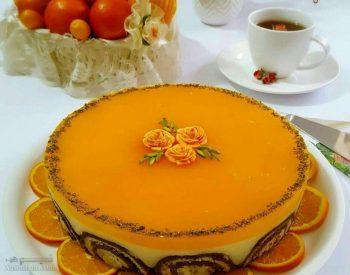 طرز تهیه دسر موس پرتقالی + تزیین