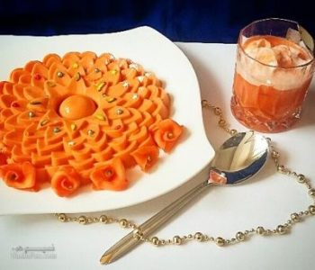 دسر آب هویج بستنی خوش طعم و شیک + تزیین