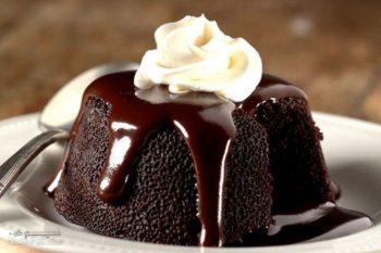 طرز تهیه سوفله شکلات مجلسی + تزیین
