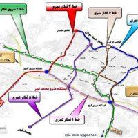 نقشه مترو کرج + جزئیات ساعت حرکت قطارها