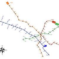 نقشه مترو مشهد، ایستگاهها + جدیدترین ساعت حرکت قطارها