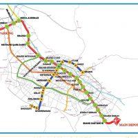 نقشه مترو شیراز + جزئیات ساعت حرکت قطارها