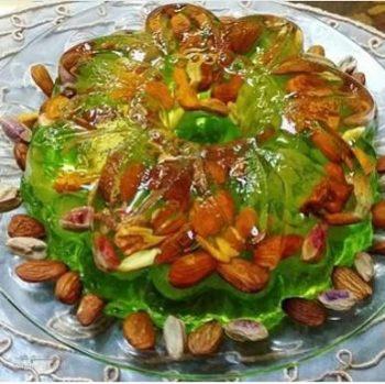 طرز تهیه ژله آجیلی خوش طعم و شیک