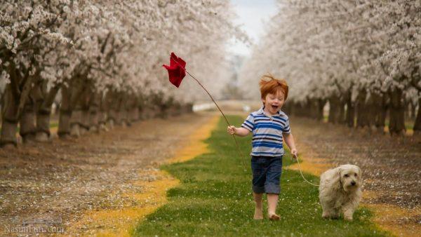 عکس نوشته پسرونه بهاری