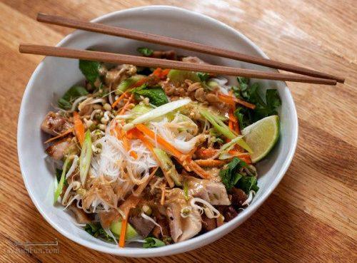 طرز تهیه خوراک مرغ و سبزیجات چینی + فیلم آموزشی