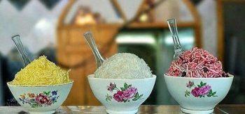 طرز تهیه فالوده شیرازی + تزیینات