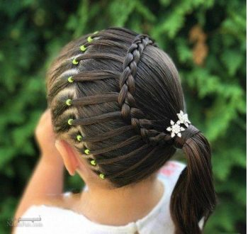 بافت موی مجلسی برای دختر بچه ها