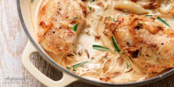 طرز تهیه خوراک مرغ با گشنیز مجلسی و خوشمزه