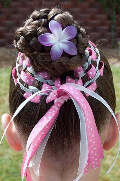 انواع مدل های بافت موی مجلسی برای دختر بچه ها