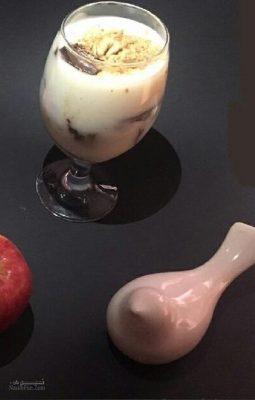 طرز تهیه دسر محلبی سیب دارچینی خوش طعم + تزیینات