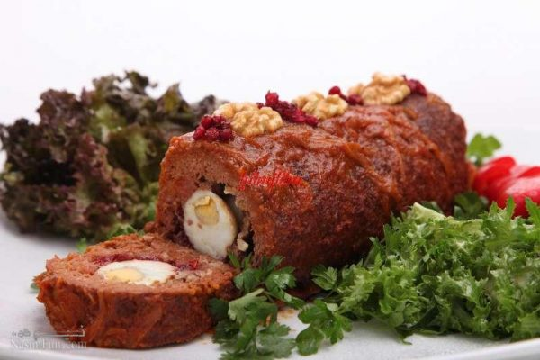 طرز تهیه خوراک گوشت قالبی لذیذ و مجلسی + آموزش تصویری
