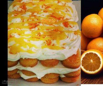 طرز تهیه دسر تیرامیسو پرتقالی خوشمزه + فیلم آموزشی