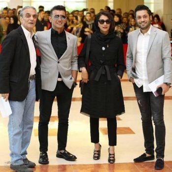 جمعی از بازیگران در جشن حافظ 97