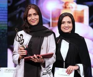 پریناز ایزدیار و گلاره عباسی در جشن حافظ