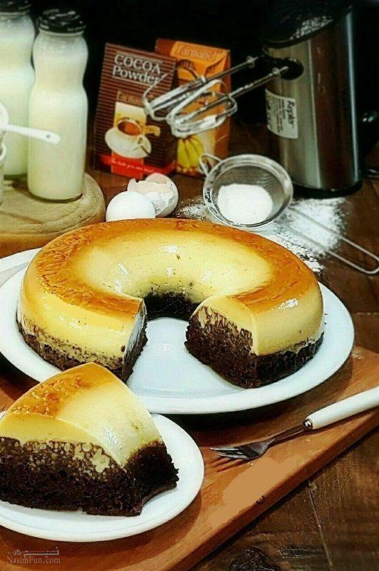 طرز تهیه کیک کاراملی خوشمزه + فیلم آموزشی