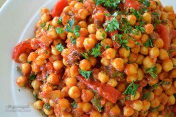 طرز تهیه خوراک نخود با سبزیجات متنوع و خوشمزه