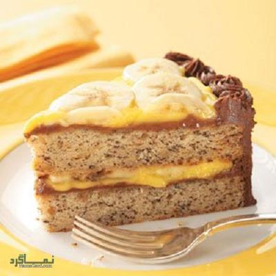 طرز تهیه کیک موزی خوش عطر + تزیین