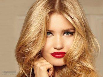 آرایش صورت با موی بلوند
