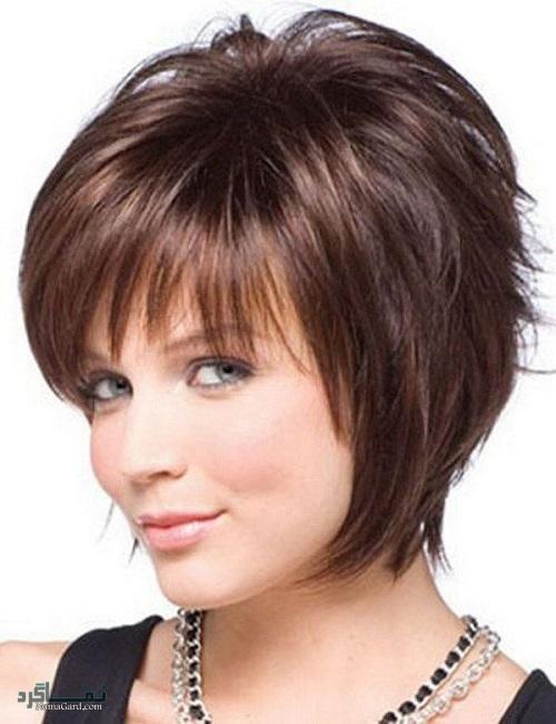 مدل موی کوتاه برای صورت های گرد