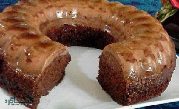 کیک کارامل + تزیین