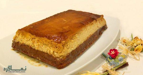 طرز تهیه کیک کارامل خوشمزه + فیلم آموزشی