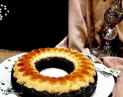 طرز تهیه کیک کارامل خوش طعم + تزیین