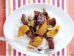 طرز تهیه خوراک گوشت با سس پرتقال