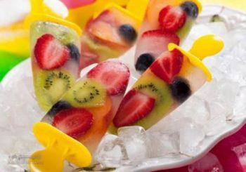طرز تهیه بستنی میوه ای خوشمزه + تزیین