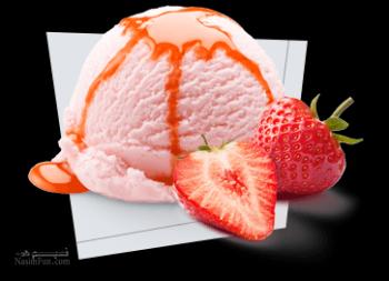 طرز تهیه بستنی توت فرنگی خوشمزه + فیلم آموزشی