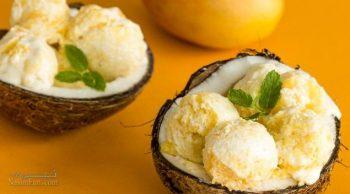 طرز تهیه بستنی موزی خنک + تزیین