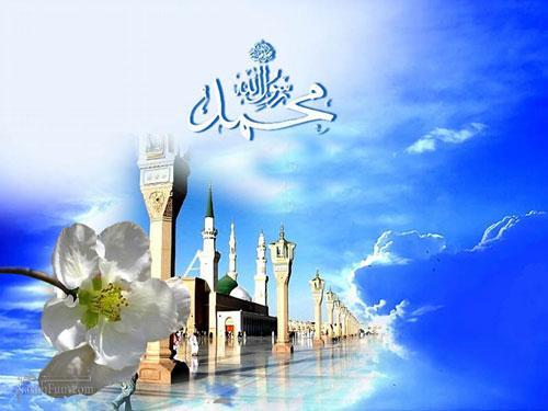 عکس نوشته مذهبی ولادت حضرت محمد