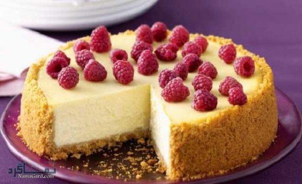 طرز تهیه چیز کیک نیویورکی خوش طعم + تزیین