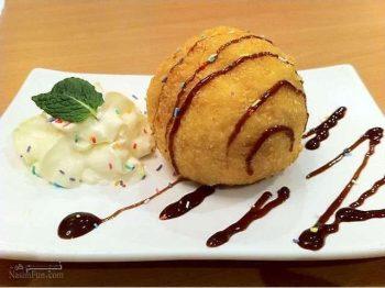 طرز تهیه دسر بستنی سرخ شده خوشمزه + فیلم آموزشی