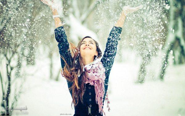 عکس نوشته دخترونه خاص زمستانی