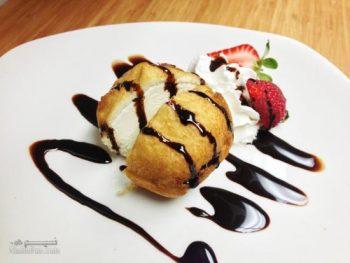 طرز تهیه دسر بستنی سرخ شده خوش طعم + تزیین