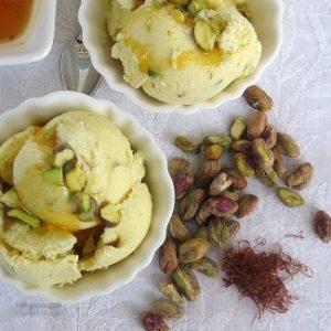 طرز تهیه بستنی پسته ای خوش طعم و مقوی