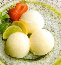 طرز تهیه بستنی لیمویی خوشمزه + تزیین
