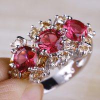 انواع مدل های انگشتر یاقوت سرخ زنانه
