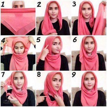 آموزش بستن روسری مدل لبنانی