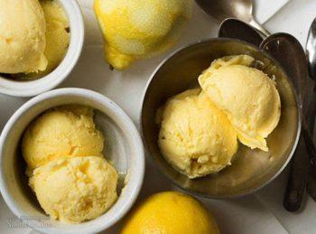 طرز تهیه بستنی لیمویی خوش طعم + تزیین