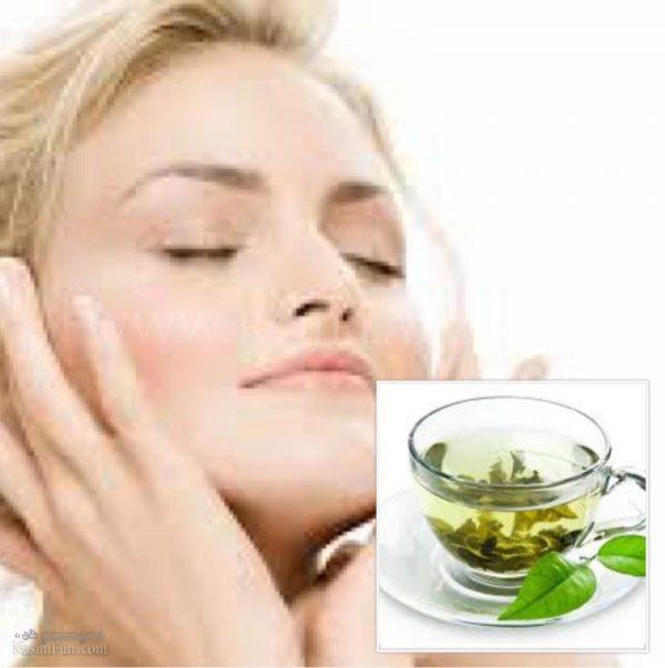 ماسک چای سبز برای زیبایی پوست صورت