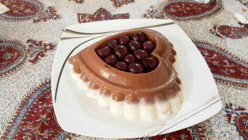 پودینگ وانیلی شکلاتی