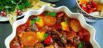 طرز تهیه خوراک تاس گیاه خوش طعم و مزه + فیلم آموزشی