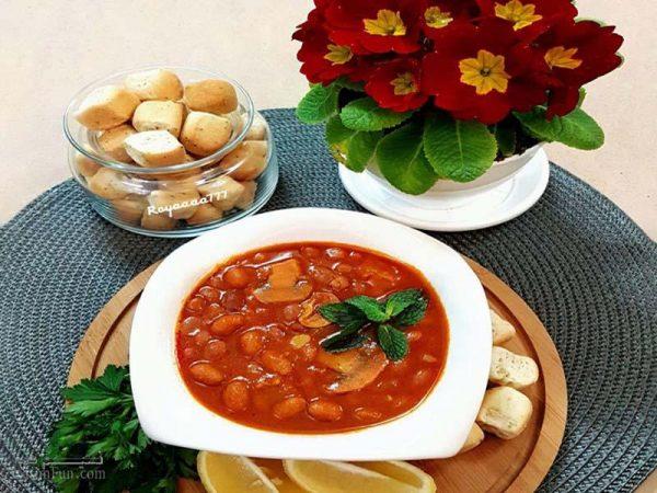خوراک لوبیا با سویا خوشمزه و مقوی