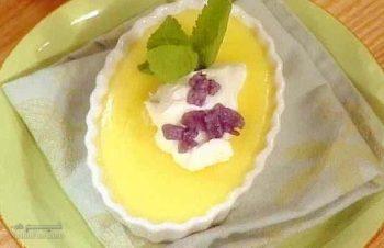 طرز تهیه پودینگ لیمو خوش طعم + تزیین