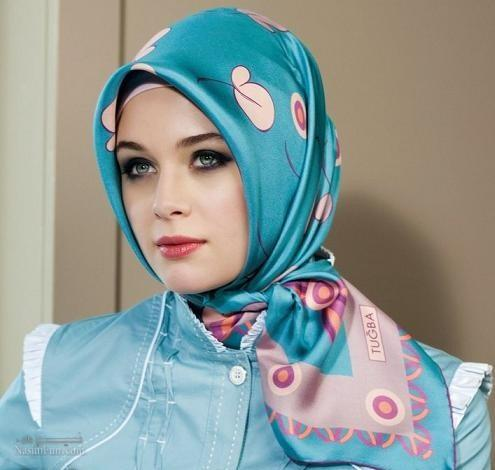 آموزش بستن شال و روسری مدل لبنانی